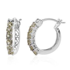 Jewelry - Brazilian Canary Chrysoberyl 925 Silver Earrings
